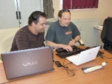 Ulrich en formation avec Laurent