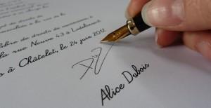 Image signature de la lettre de leg